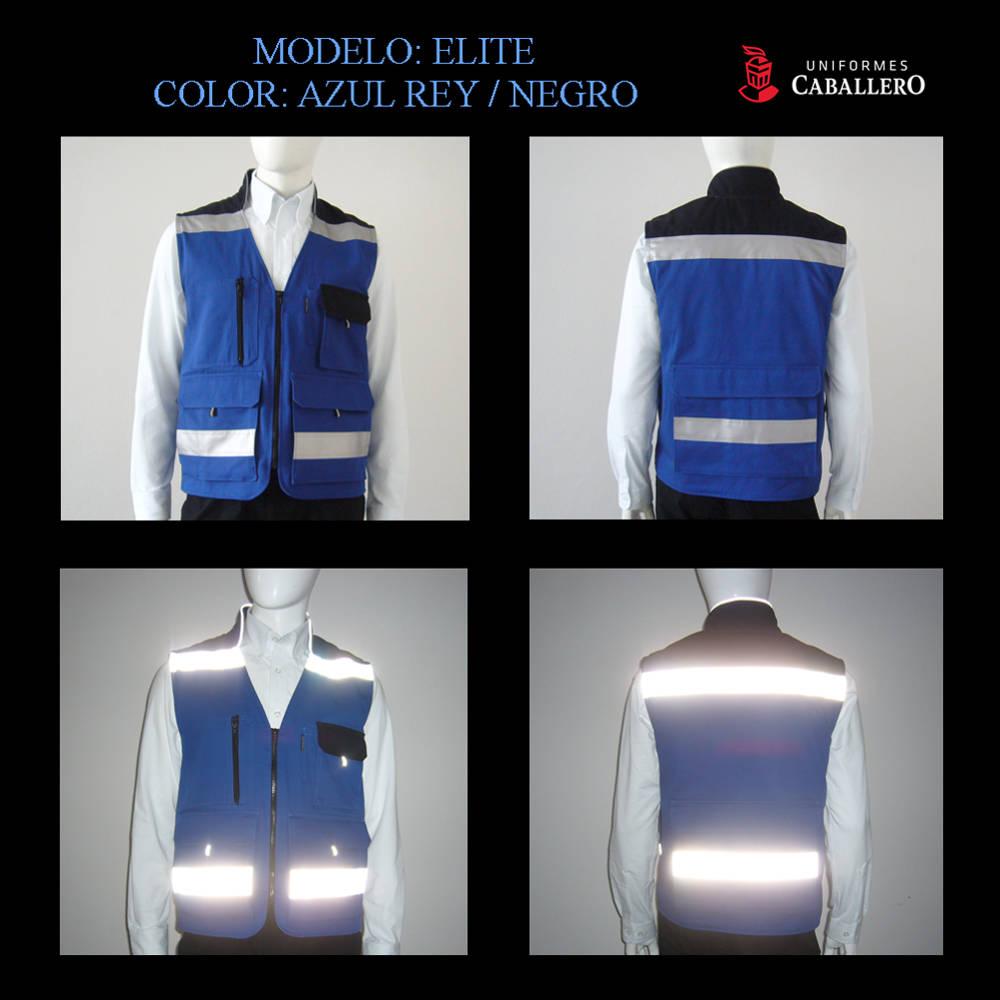 Chaleco Elite en Azul Rey y Negro