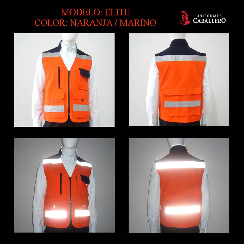 Chaleco Elite en Naranja y Marino