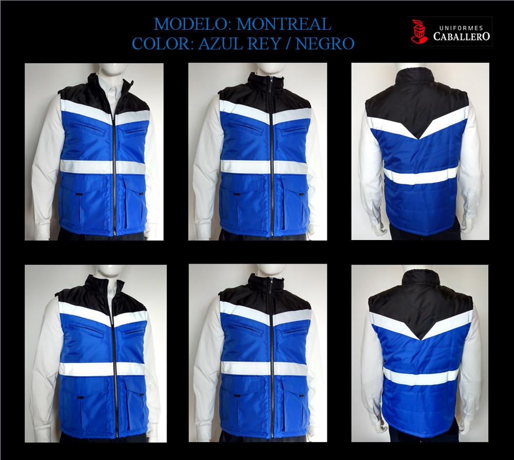 Chaleco Montreal en Azul Rey con Negro