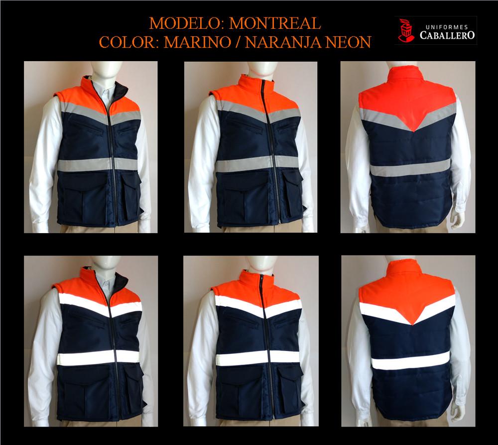 Chaleco Montreal en Marino con Naranja