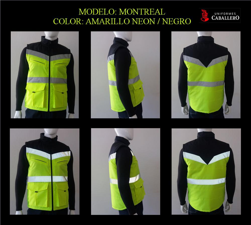 Chaleco Montreal en Neón con Negro