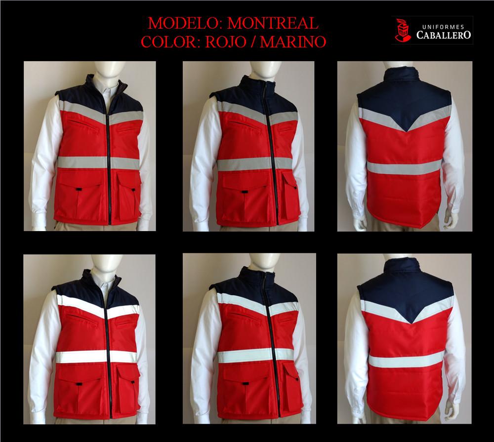 Chaleco de Seguridad Montreal Rojo con Marino