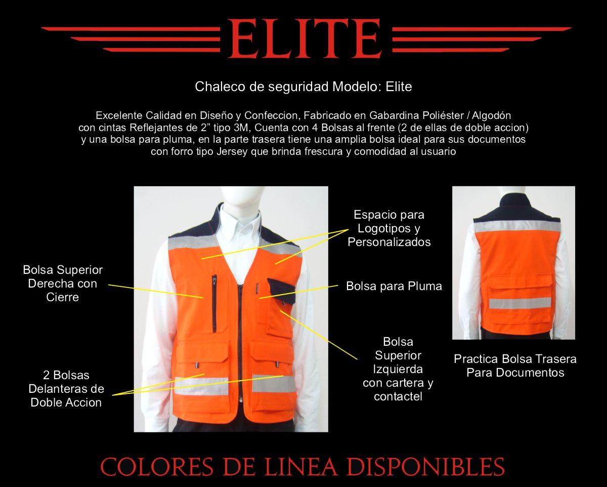 Chalecos con Reflejantes Elite en varios colores